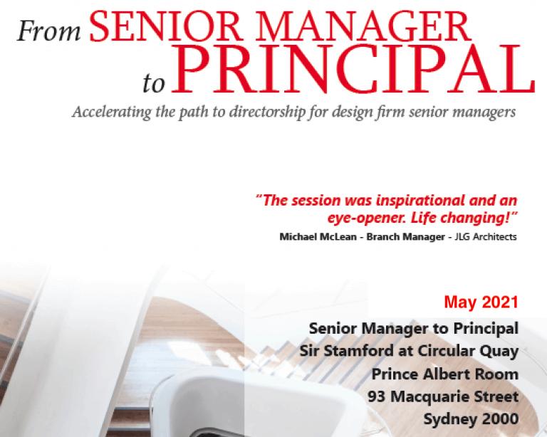 manager to principal